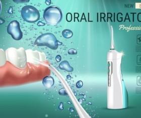 Oral irrigaror advertising vector template 01