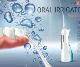 Oral irrigaror advertising vector template 02