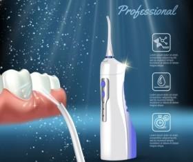 Oral irrigaror advertising vector template 03