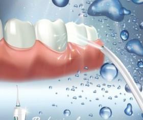 Oral irrigaror advertising vector template 04