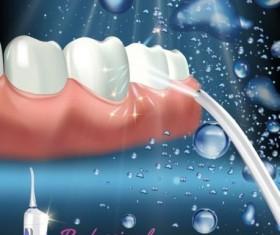 Oral irrigaror advertising vector template 05