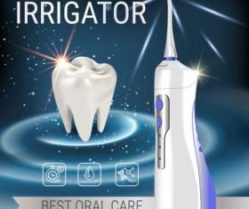 Oral irrigaror advertising vector template 06