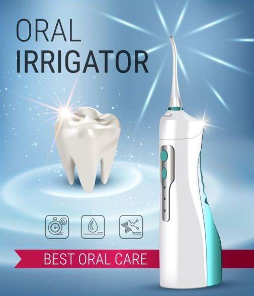 Oral irrigaror advertising vector template 08