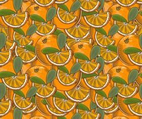 Orange seamless hand drawn vector
