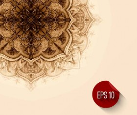 Ornament ethnic pattern with retro background 06