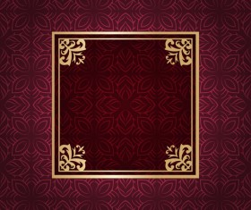 Ornate vintage pattern with deco frame vector material 13