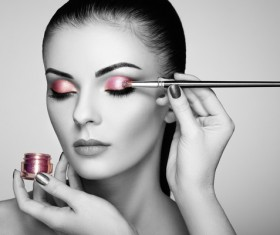 Painted pink eye shadow HD picture
