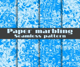 Paper marbling seamless pattern vector set 03