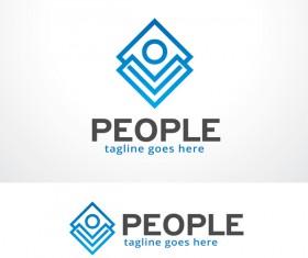 People logo creative design vector