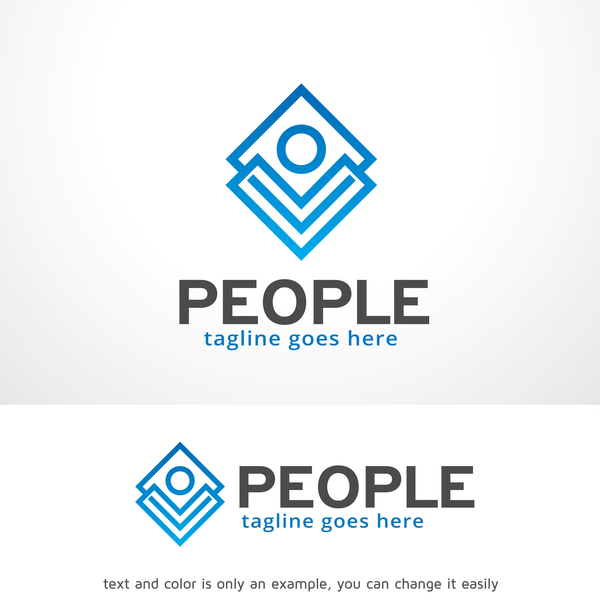 People logo creative design vector