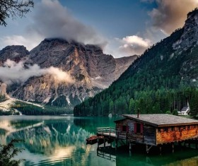 People on the lake Stock Photo