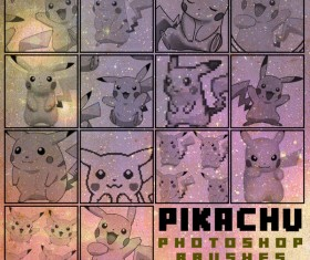 Pikachu photoshop brushes