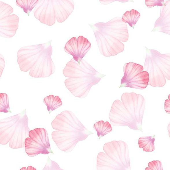 Pink petal seamless pattern vector 01