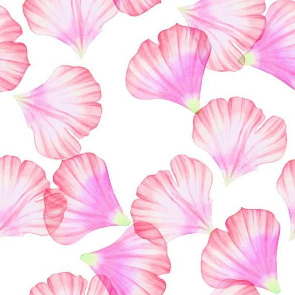 Pink petal seamless pattern vector 02