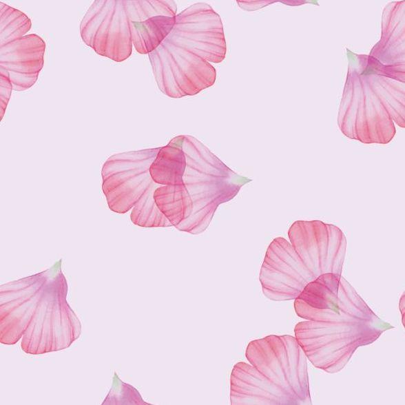 Pink petal seamless pattern vector 03
