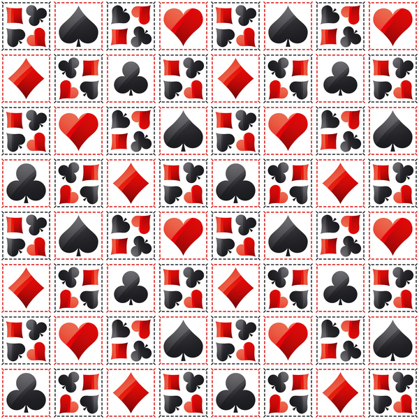 Poker sign seamless pattern vector set 04