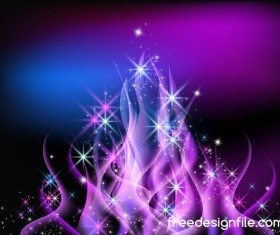 Purple flame with abstract background vector