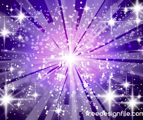Purple light beam background shiny vector 01