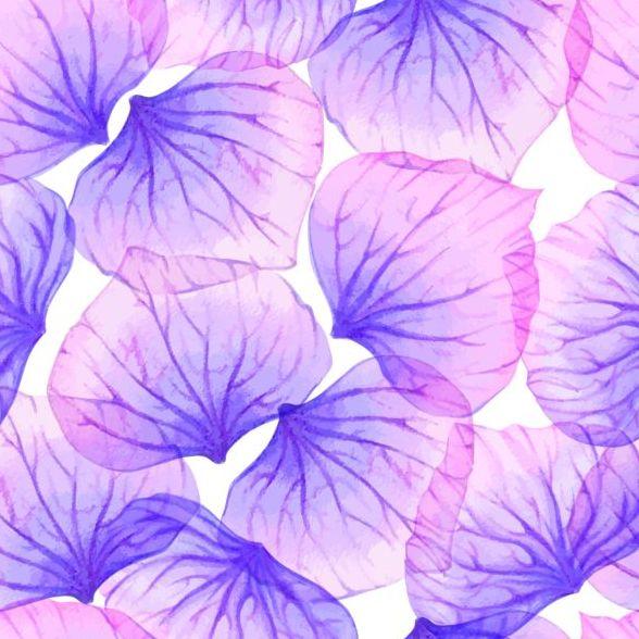 Purple petal seamless pattern vector 01