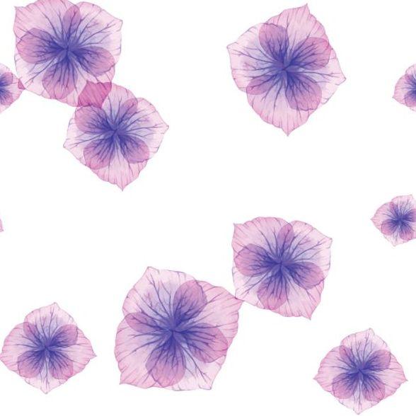 Purple petal seamless pattern vector 02