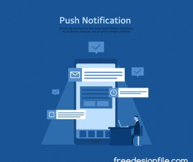 Push notification vector business template