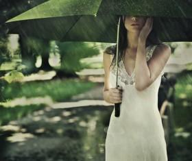 Rain non-mainstream sad Stock Photo