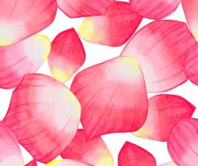 Red petal seamless pattern vector 01