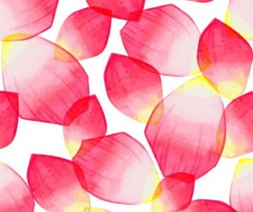 Red petal seamless pattern vector 02