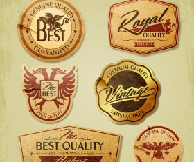 Retro grunge labels and stickers vector