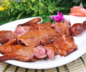 Roasted duck traditional cuisine Stock Photo