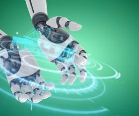 Robot hands Stock Photo