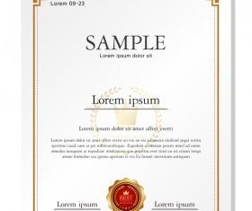 Royal certificate template illustration vector 11