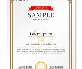 Royal certificate template illustration vector 12