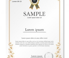 Royal certificate template illustration vector 14