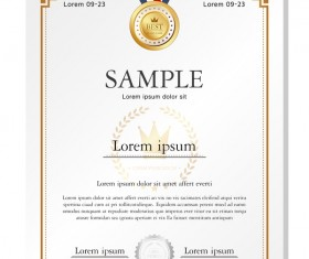 Royal certificate template illustration vector 16