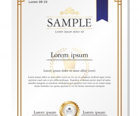 Royal certificate template illustration vector 17