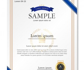 Royal certificate template illustration vector 18