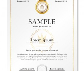 Royal certificate template illustration vector 20