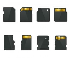 SD memory card vector set