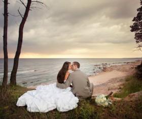 Seaside wedding Stock Photo