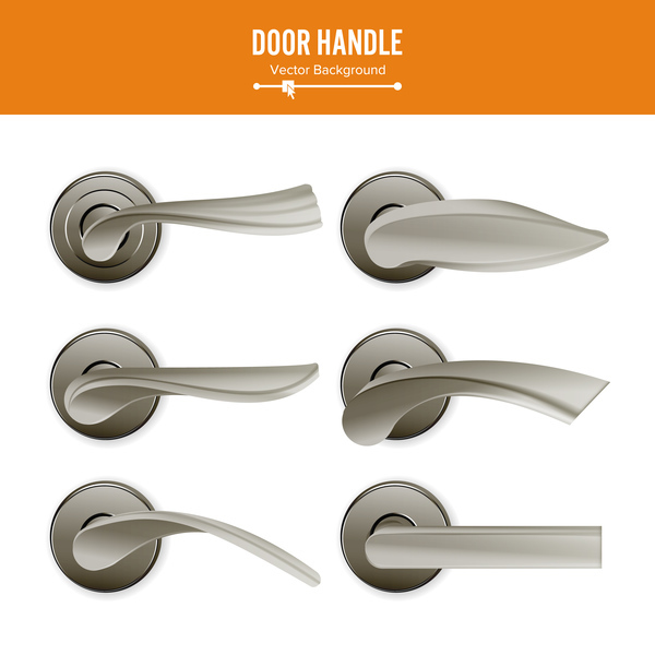 Set of door handle vector material 03