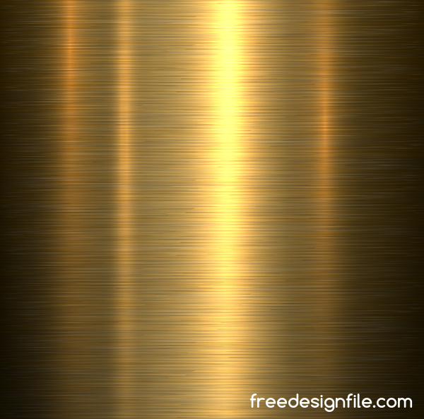 Shiny gold metal board background vector 01