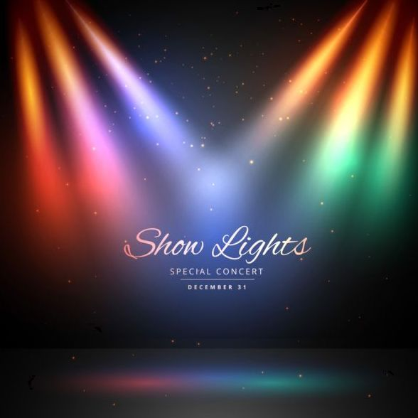 Show lights with special concert background vector 01