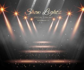 Show lights with special concert background vector 02
