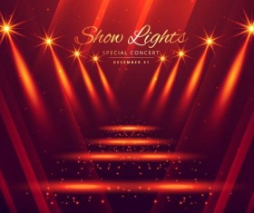 Show lights with special concert background vector 03