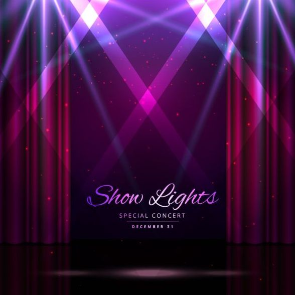 Show lights with special concert background vector 04