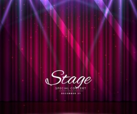 Show lights with special concert background vector 05