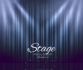 Show lights with special concert background vector 06