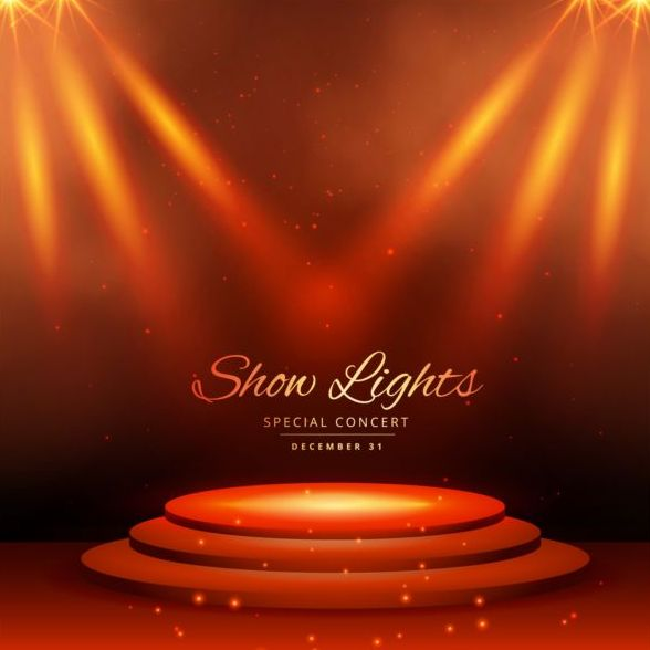 Show lights with special concert background vector 07