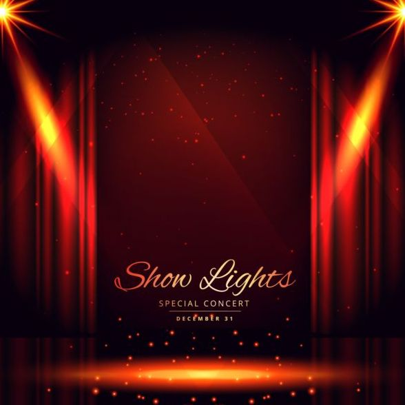 Show lights with special concert background vector 08